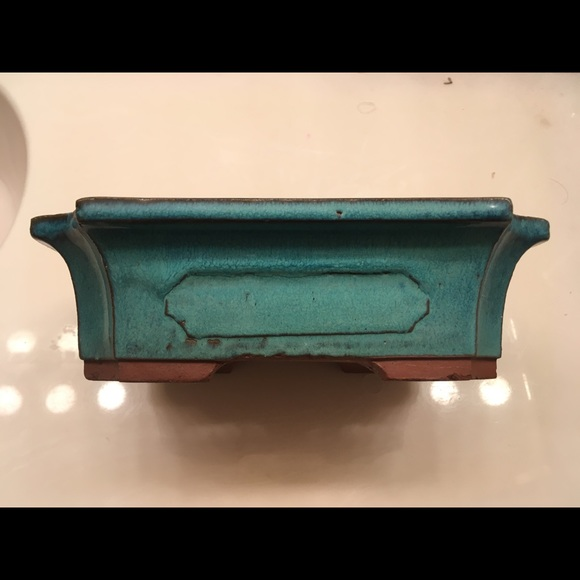 Other - Beautiful Turquoise Blue Bonsai Pot / Planter